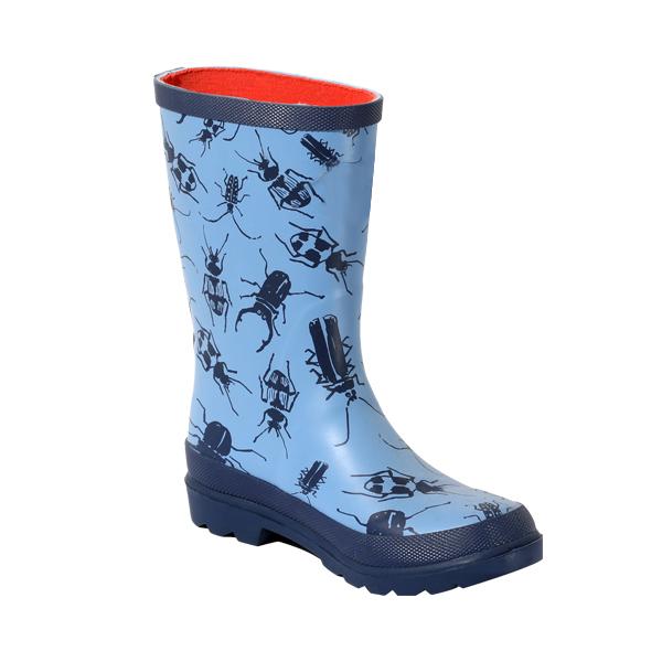 男童昆虫印花雨靴