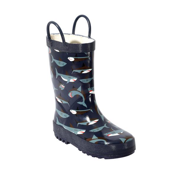 拎洞印花男童雨靴