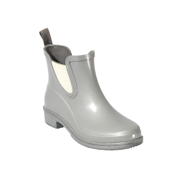 女士银色切尔西雨鞋