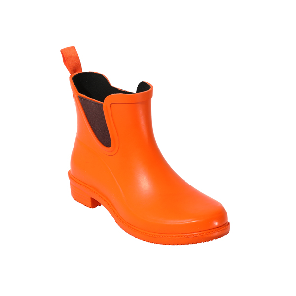 女士素色短款雨靴