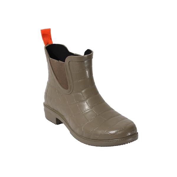 女士纹理切尔西雨鞋