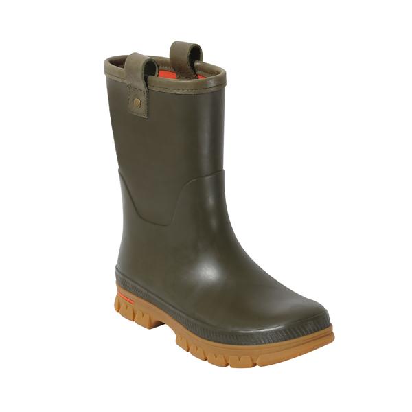 男士牛博朗橡胶雨靴