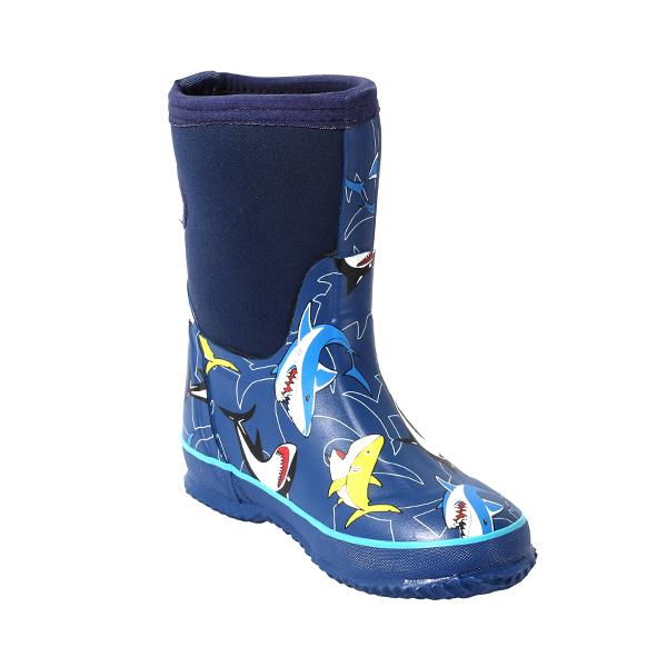 牛博朗印花橡胶童靴