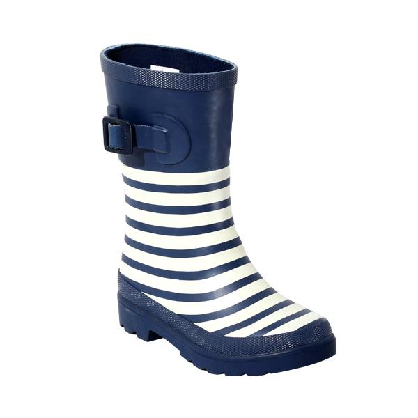 时尚条纹儿童橡胶雨靴