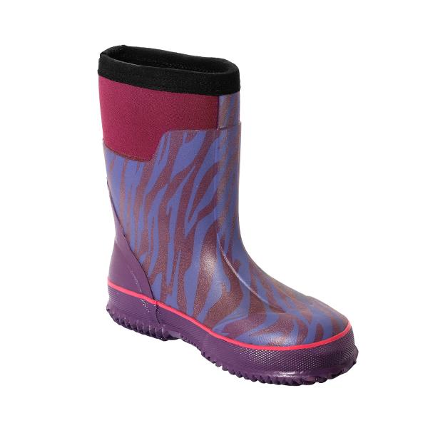 儿童斑马纹印花雨鞋