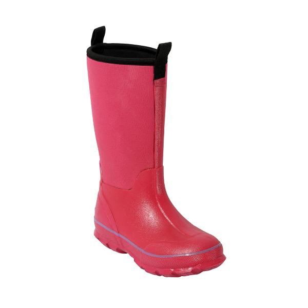 粉色高筒女童雨靴