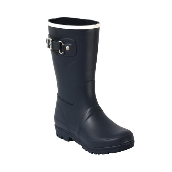 素色儿童橡胶雨靴