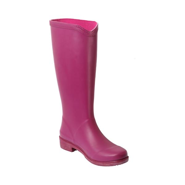 高筒素色女款雨靴