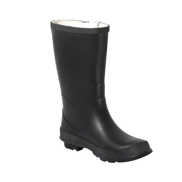 黑色女款中高橡胶雨靴
