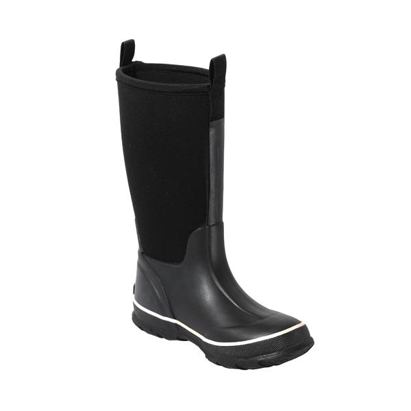 黑色保暖女士牛博朗雨靴