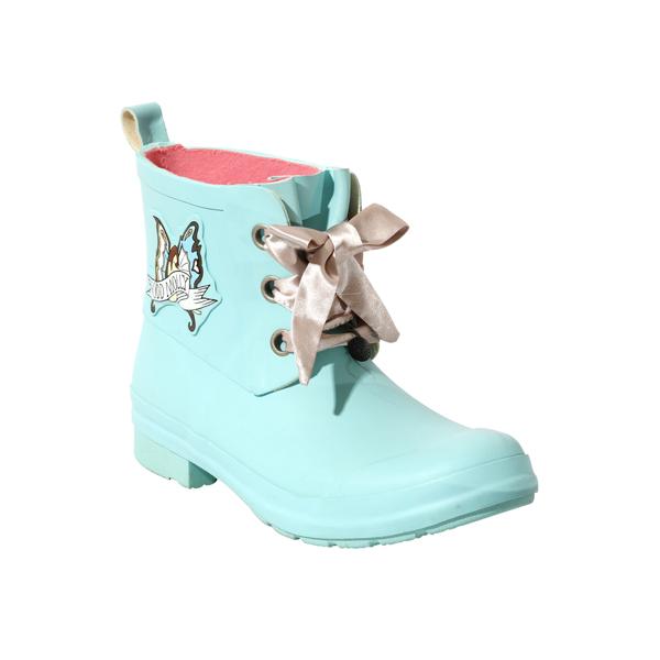 婴儿蓝色橡胶腰靴为女士