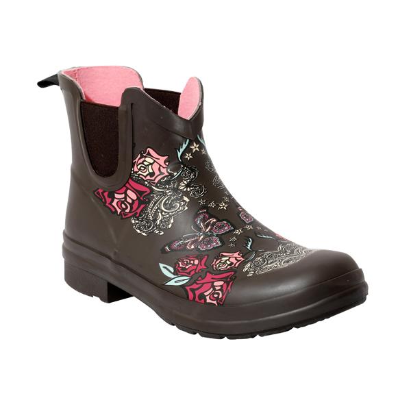 女士印花切尔西橡胶靴